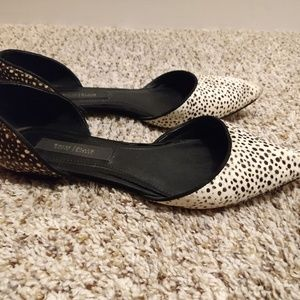 White House Black Market Leopard Fur Pointed flats